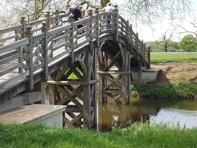 chinese bridge at croome park