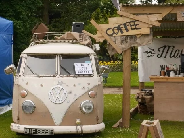 coffee campervan at Feast Waddesdon
