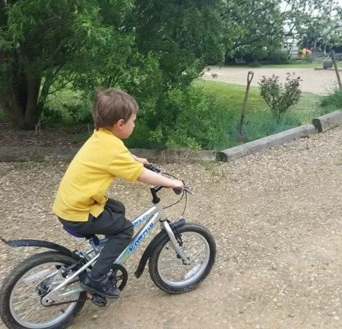 exercising on bikes