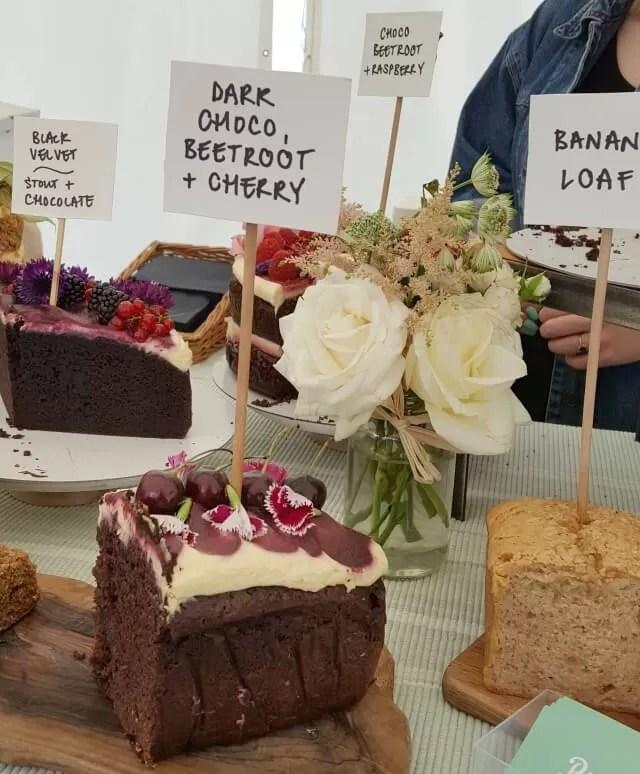 fancy cakes on sale at Feast Waddesdon