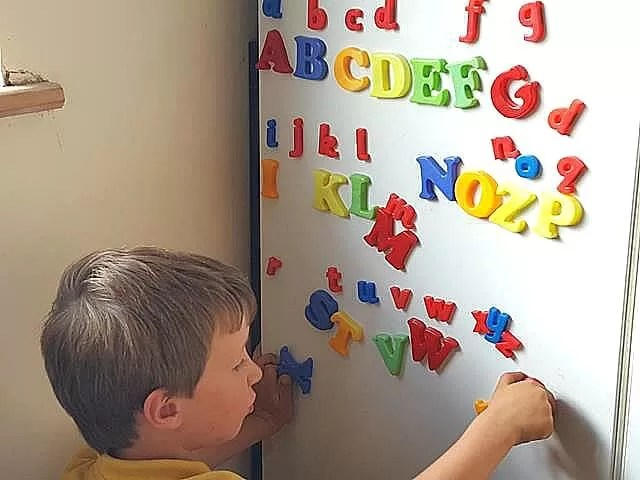 alphabet magnet play