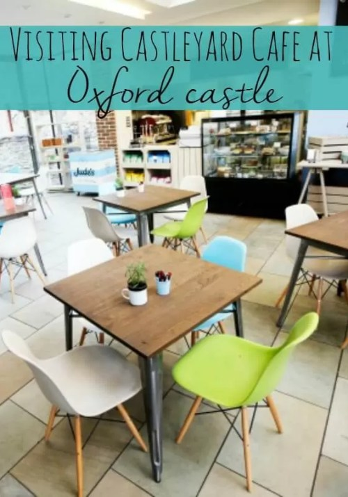 Castleyard Cafe at Oxford castle - Bubbablue and me