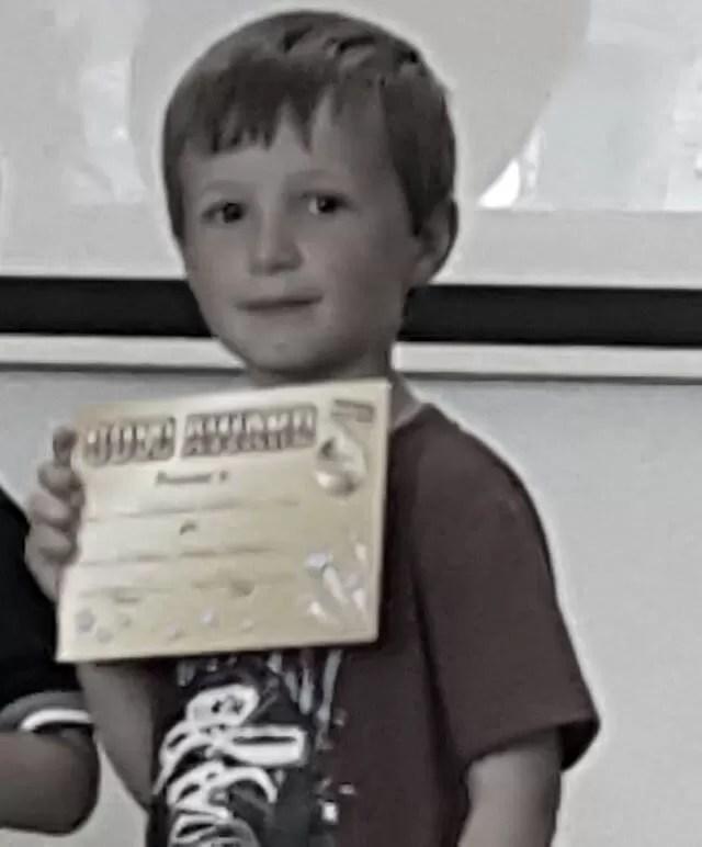 getting his gold target award