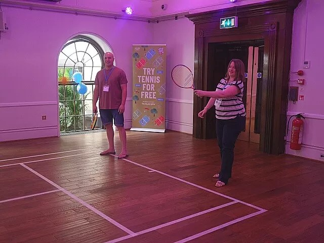 playing mini tennis with LTA Spark at BML16