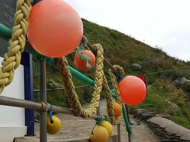 sea nets and buoys at Barricane beach cafe