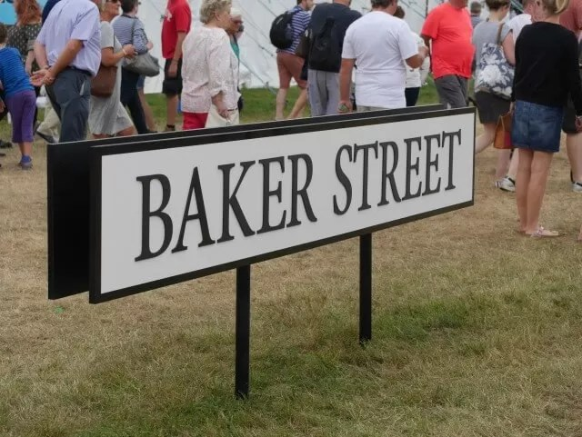 Baker Street sign at Countryfile Live 2016