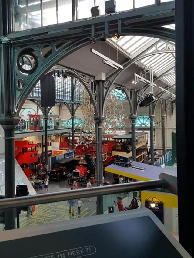 Inside London Transport museum