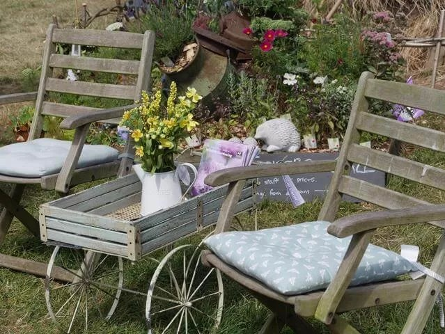 pretty chairs in the wildlife area