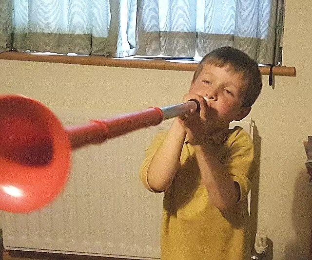 PLaying the pbuzz musical instrument