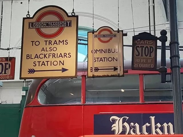 Signs at London Transport Museum