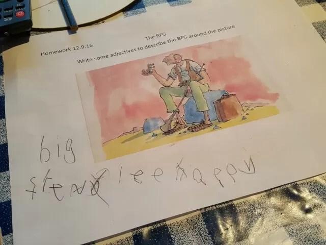BFG homework