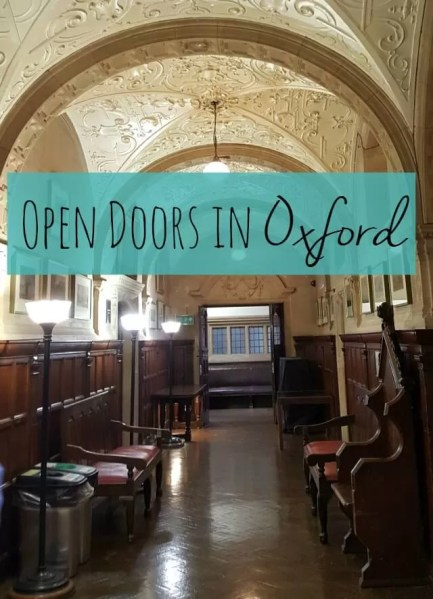 open doors oxford - Bubbablue and me