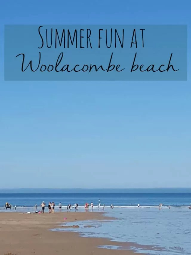 Summer fun at Woolacombe beach Bubbablue and me