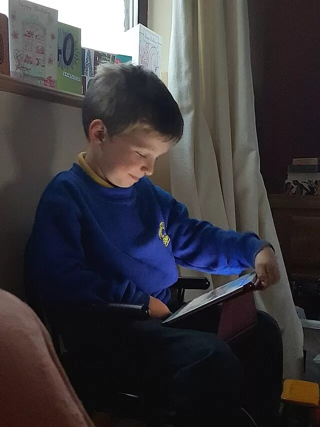 watching youtube on the tablet