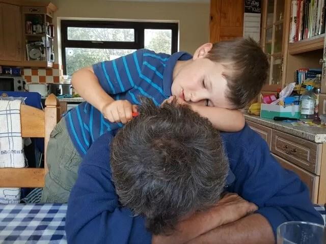 doign dad's hair