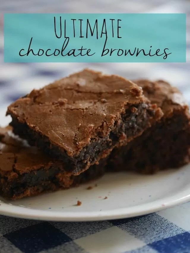 the ultimate chocolate brownies - Bubbablue and me