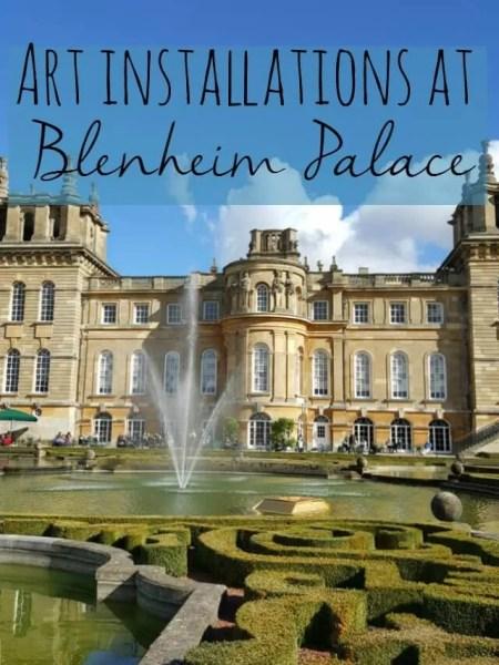 art installaton at blenheim palace - bubbablue and me
