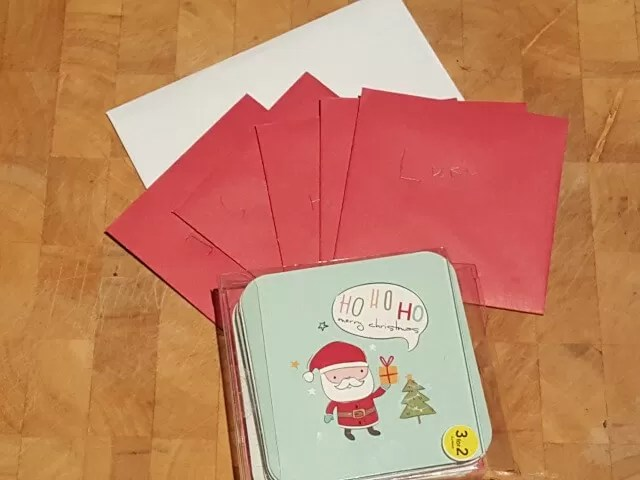 hand written christmas cards