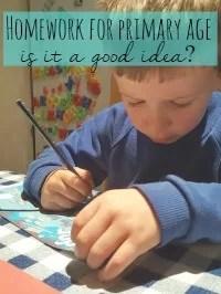 homework for primary age children