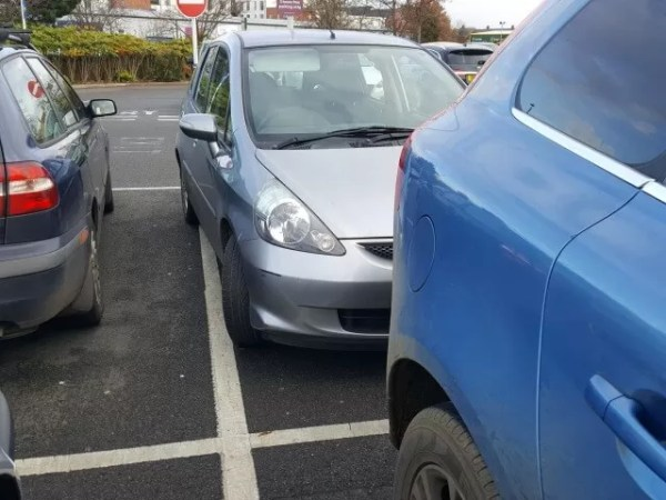 bad parking at Sainsbury's