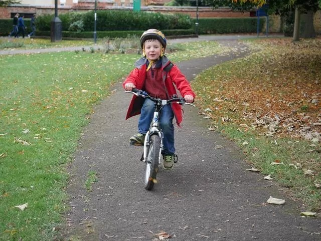 out-on-his-bike-in-the-path