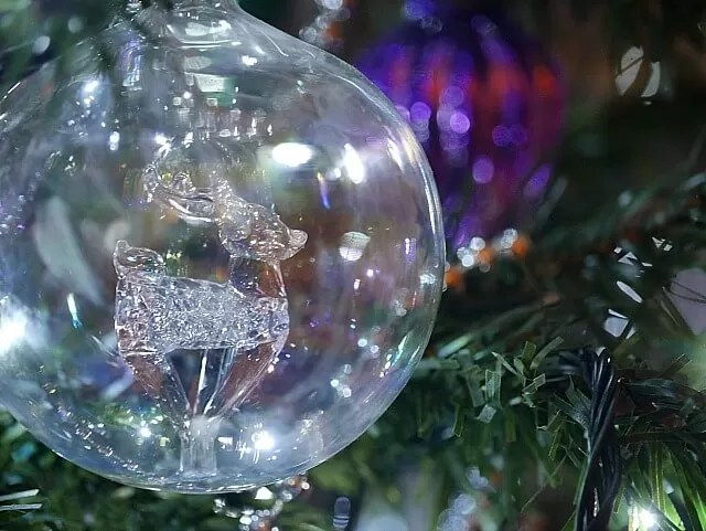 Christmas bauble on the tree