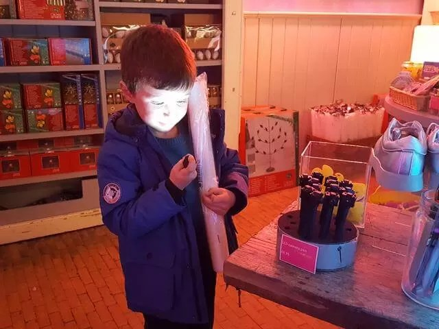Glowing face in Glow at waddesdon