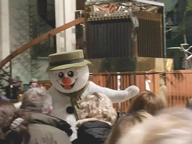 The Snowman at coventry cathedral