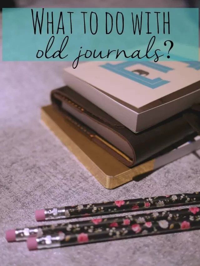 What to do with old journals over time - Bubbablue and me