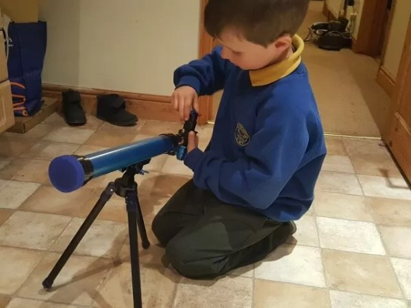 putting the telescope up