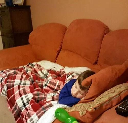 sleeping ill boy and missing school