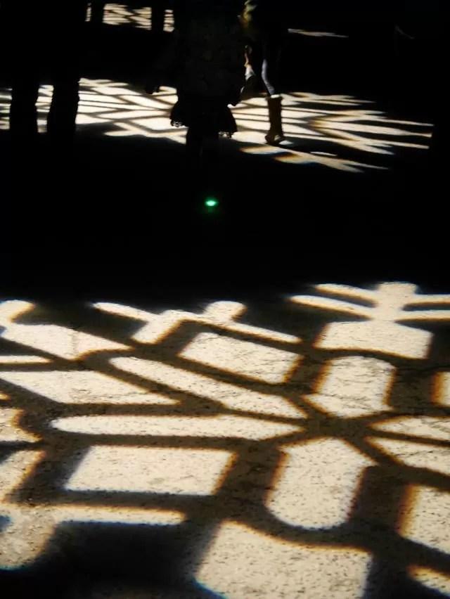 snowflake floor lights