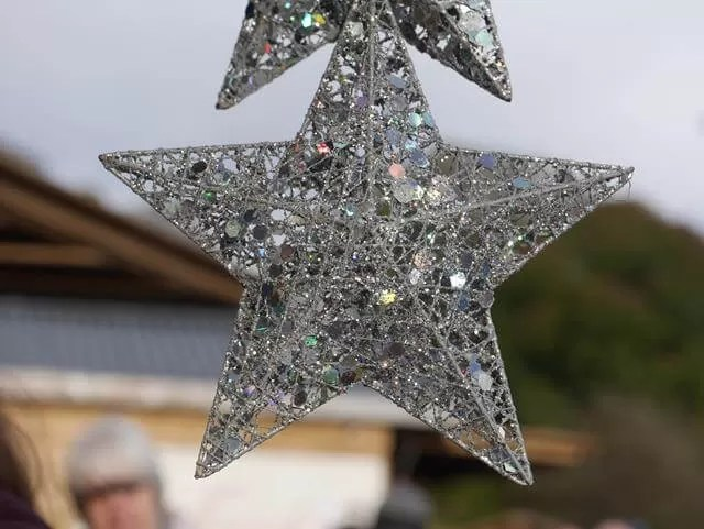 star decorations at waddesdon christmas market
