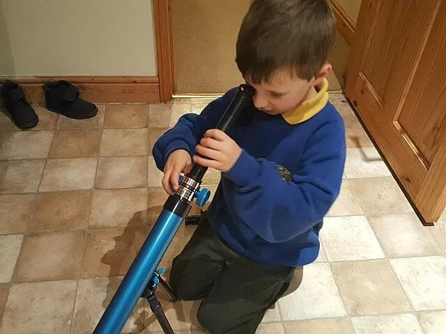 using the discovery kids telescope
