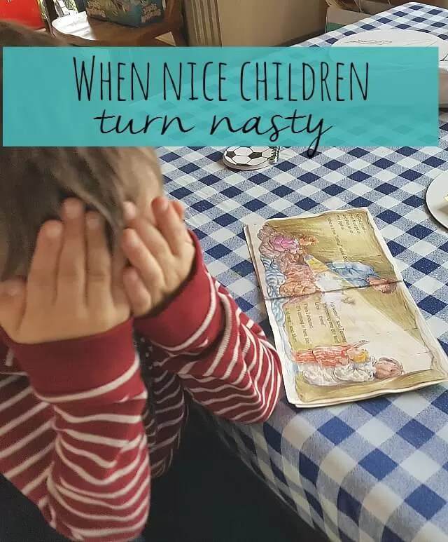 When nice children turn into nasty children - Bubbablue and me