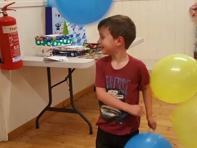 bashing birthday balloons