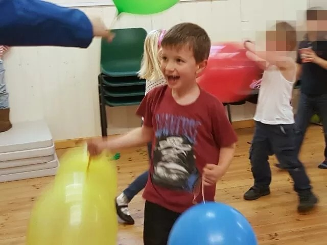 fund with birthday balloons