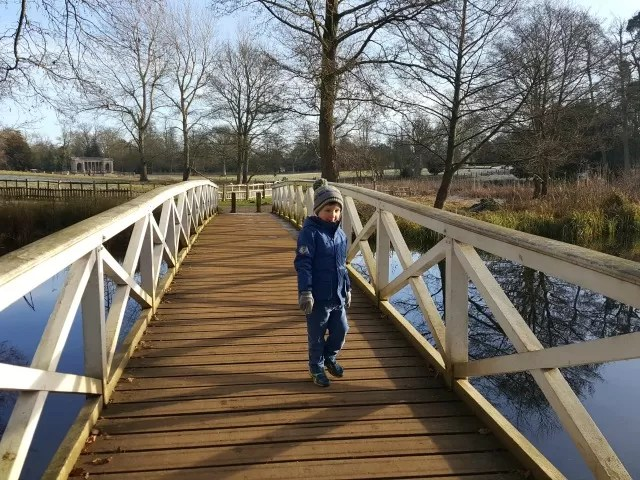 on the trip trap bridge a Stowe gardens