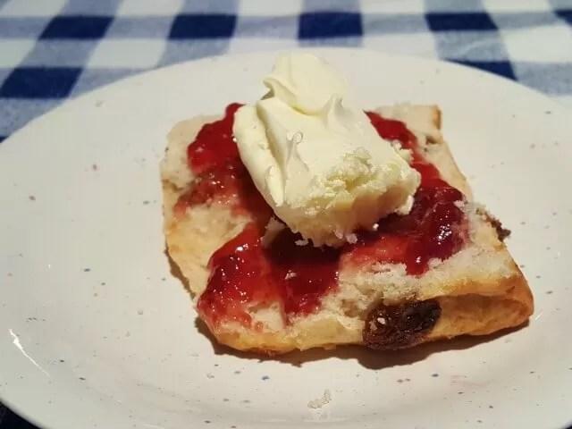 scones jam and clotted cream