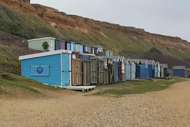Barton on Sea beach huts
