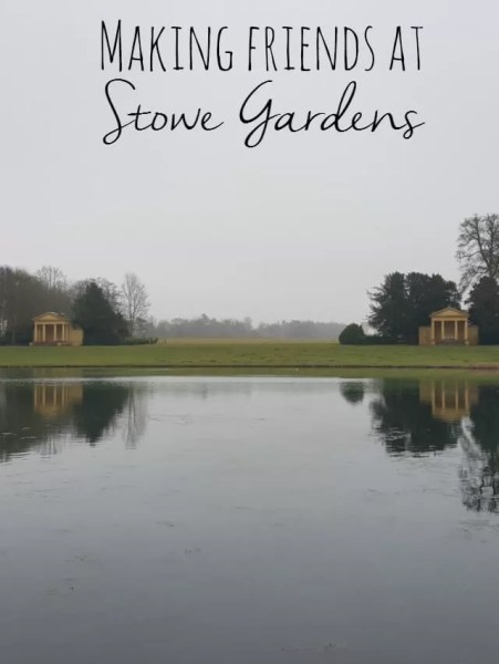 making friends at Stowe Gardens - Bubbablue and me