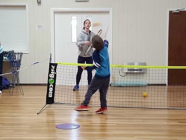 volley at tennis club