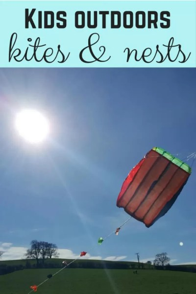 Get kids outdoors with kite flying and nest building - Bubbabue and me
