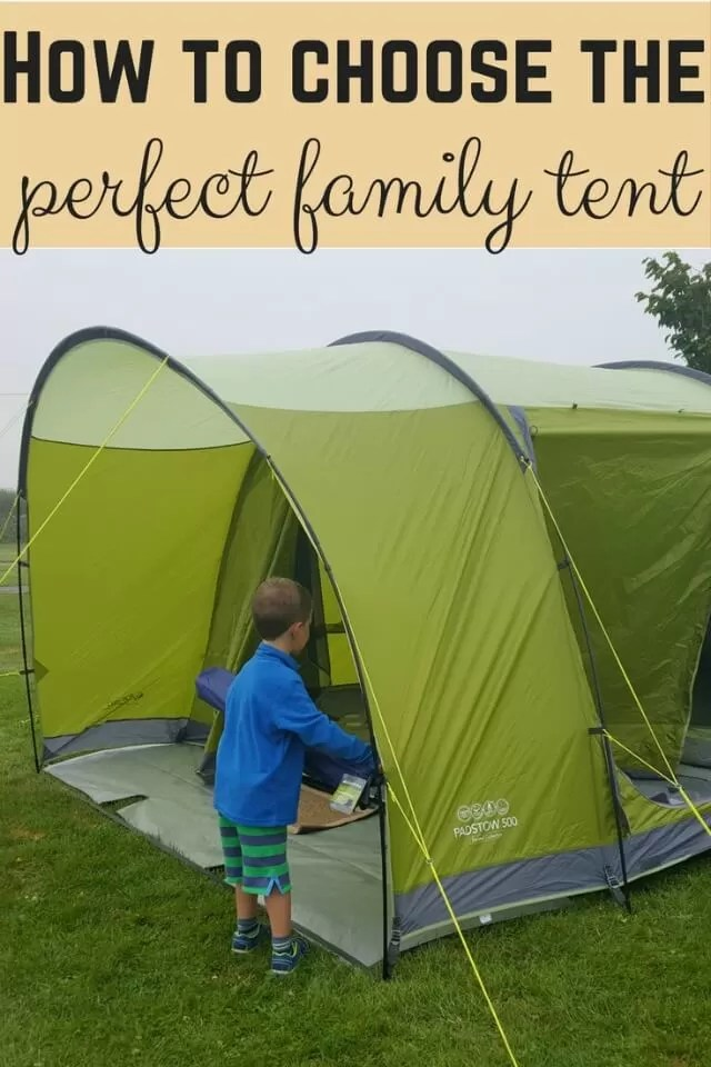 how to choose a family tent
