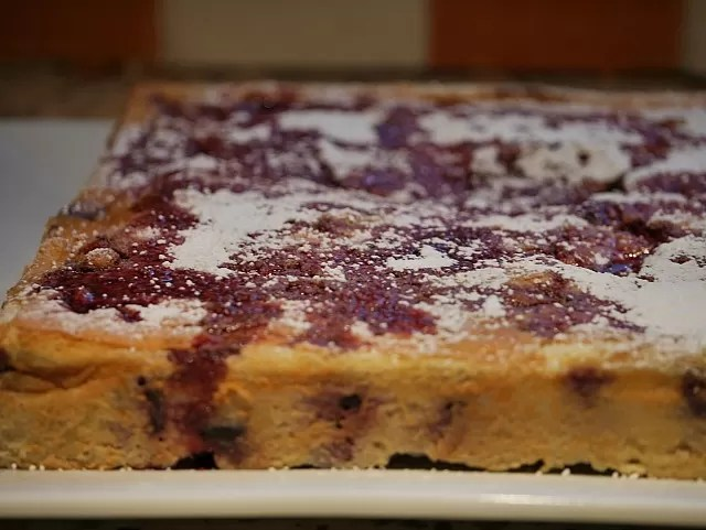 cherry bakewell surprise pudding