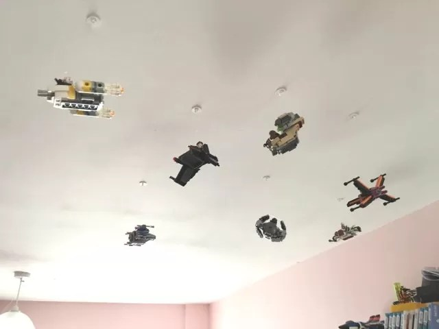 lego ceiling displays