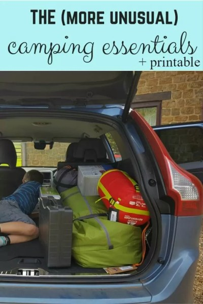 the unusual camping essentials you sholdn't forget to pack - Bubbablue and me