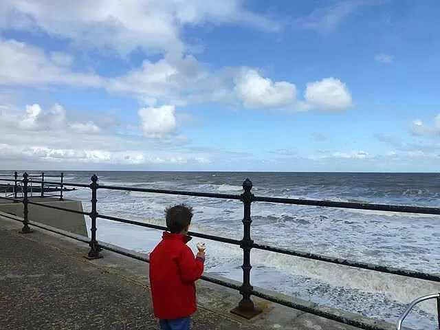 ice creams overlooking the sea at Cromer