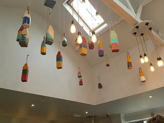 light decor at Wells next the sea cafe