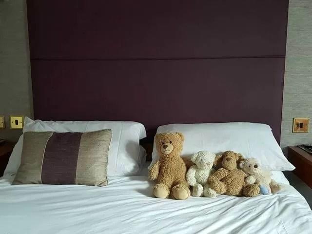 teddies on the bed